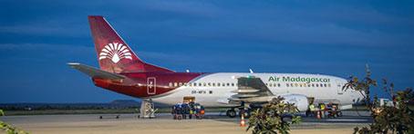 Flugzeug Air Madagascar Madagaskar Inlandsflug
