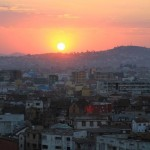 Antananarivo Sonnenuntergang Madagaskar