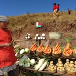 Madagaskar Gemüseverkauf RN7 Hochland