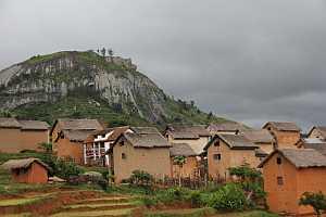 Madagaskar Hochland Häuser