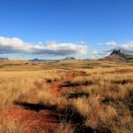Madagaskar Landschaft Steppe Rote Erde
