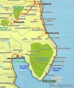 Masoala_Madagaskar_Halbinsel_Landkarte_PRIORI-Reisen