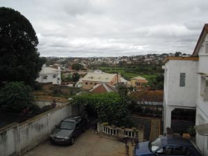 Dezember in Madagsakar Ausblick auf Antananarivo