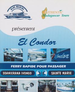 El Condor Fährverbindung Soanierana Ivongo nach Sainte Marie