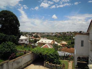 Blick über Antananarivo Madagaskar im Januar