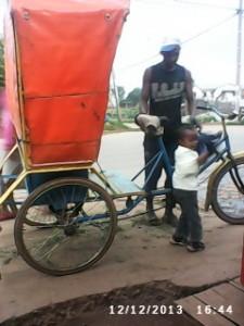 Fahrradrikscha in Antsirabe Madagaskar