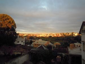 Ausblick auf Antananarivo im September in Madagsakar