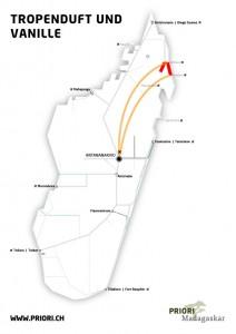 Gruppenreise Madagaskar Tropenduft und Vanille PRIORI Reisen Route