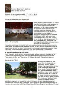 Kapuziner-Bruder Reisebericht Madagaskar