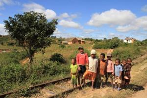 Madagaskar-Hochland-Dorf
