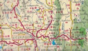 Madagaskar Strassenkarten Carte de Madagascar FTM im Detail