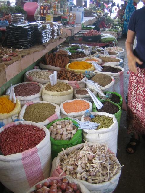 Komoren Anjouan Markt Gewuerze