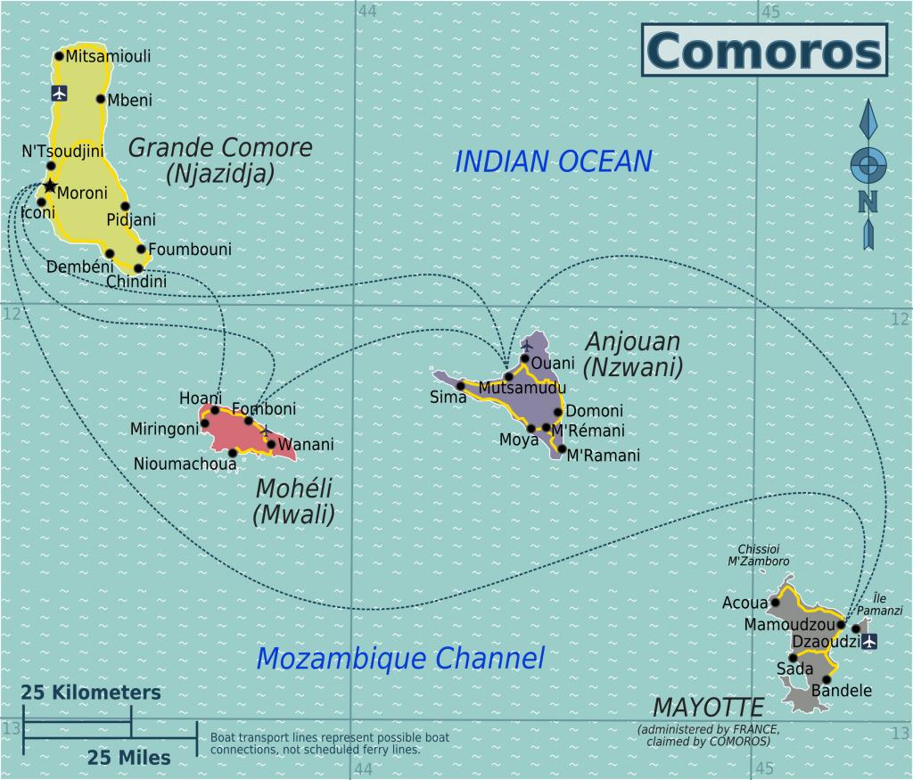 Komoren Landkarte