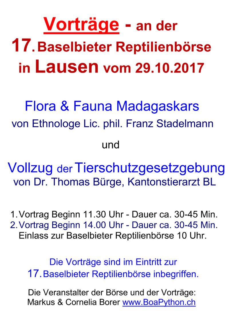 Vortragsuebersicht Baselbieter Reptilienboerse 2017