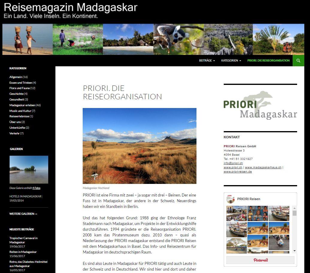 Reisemagazin Madagaskar