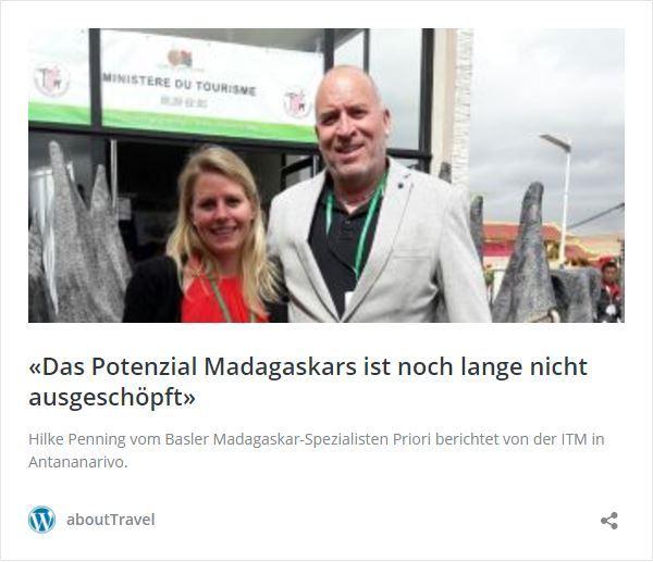 travel INSIDE News -Das Potenziel ist noch lange nicht ausgeschöpft- Tourismusmesse ITM in Madagaskar