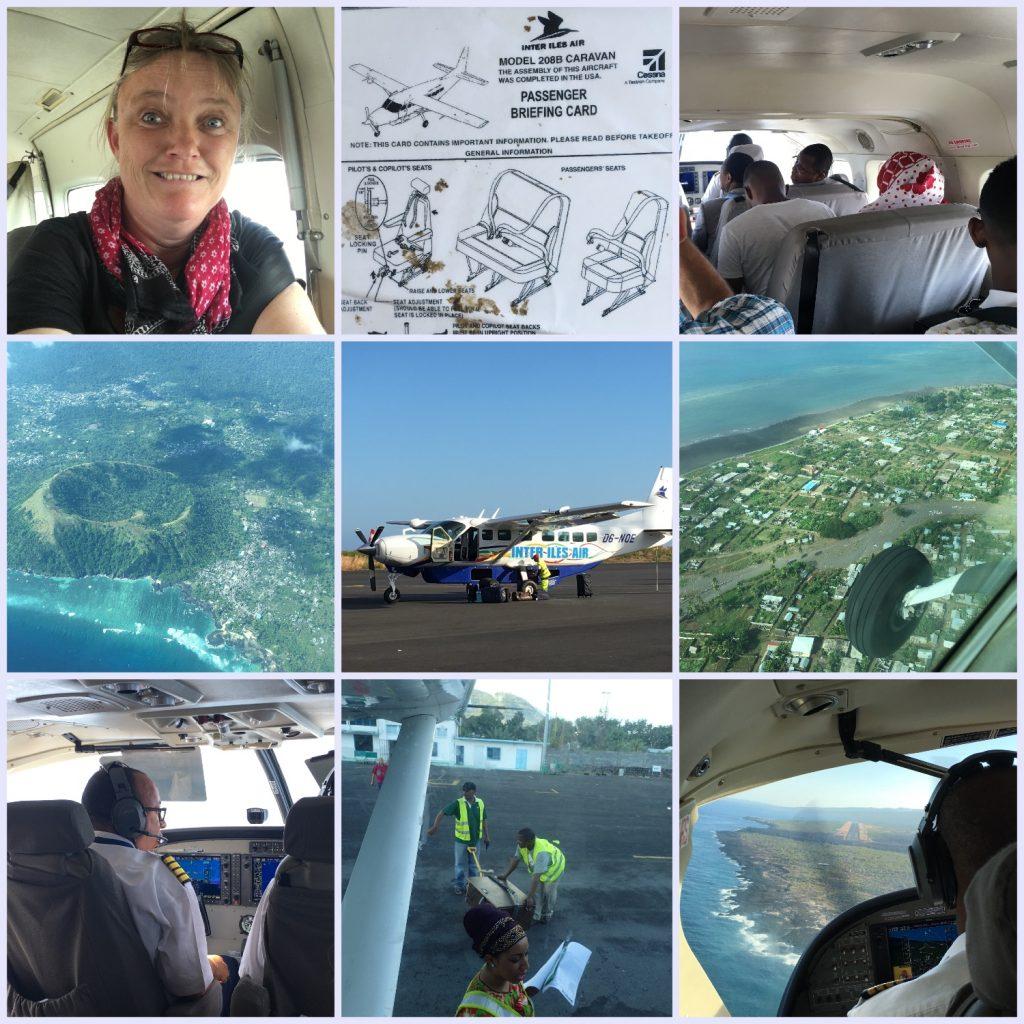 Collage Abenteuerreise Komoren Inlandsflüge PRIORI