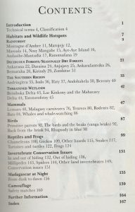 002-2008-Madagascar Wildlife Inhaltsverzeichnis