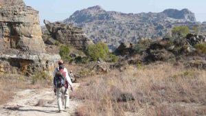 Isalo Gebirge in Madagaskar auf dem Weg zum Mangoky-Fluss