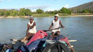 auf dem Mangoky-Fluss in Madagaskar