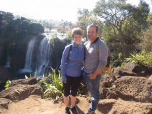 Ferien in Madagaskar genossen: Wasserfall in Madagaskar