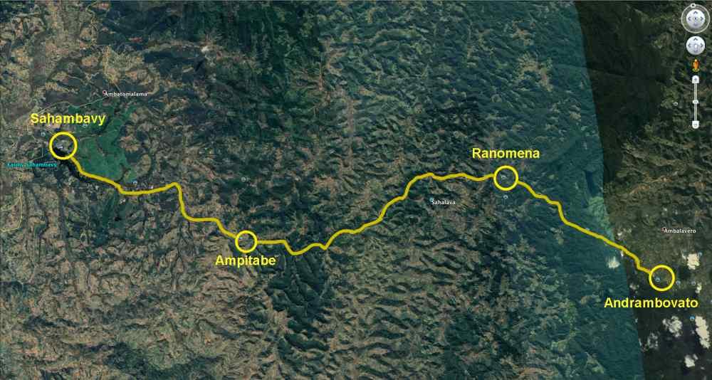 Trekking entlang der Eisenbahnlinie:Tag 1
