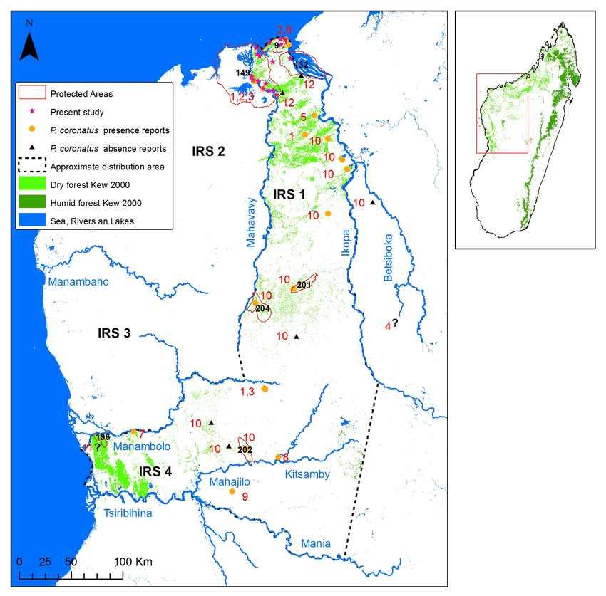 Nr. 132 der Grafik ist das Schutzgebiet Bombetoka Belemboka