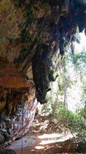 Klettern im Vallee des Perroquets im Norden von Madagaskar