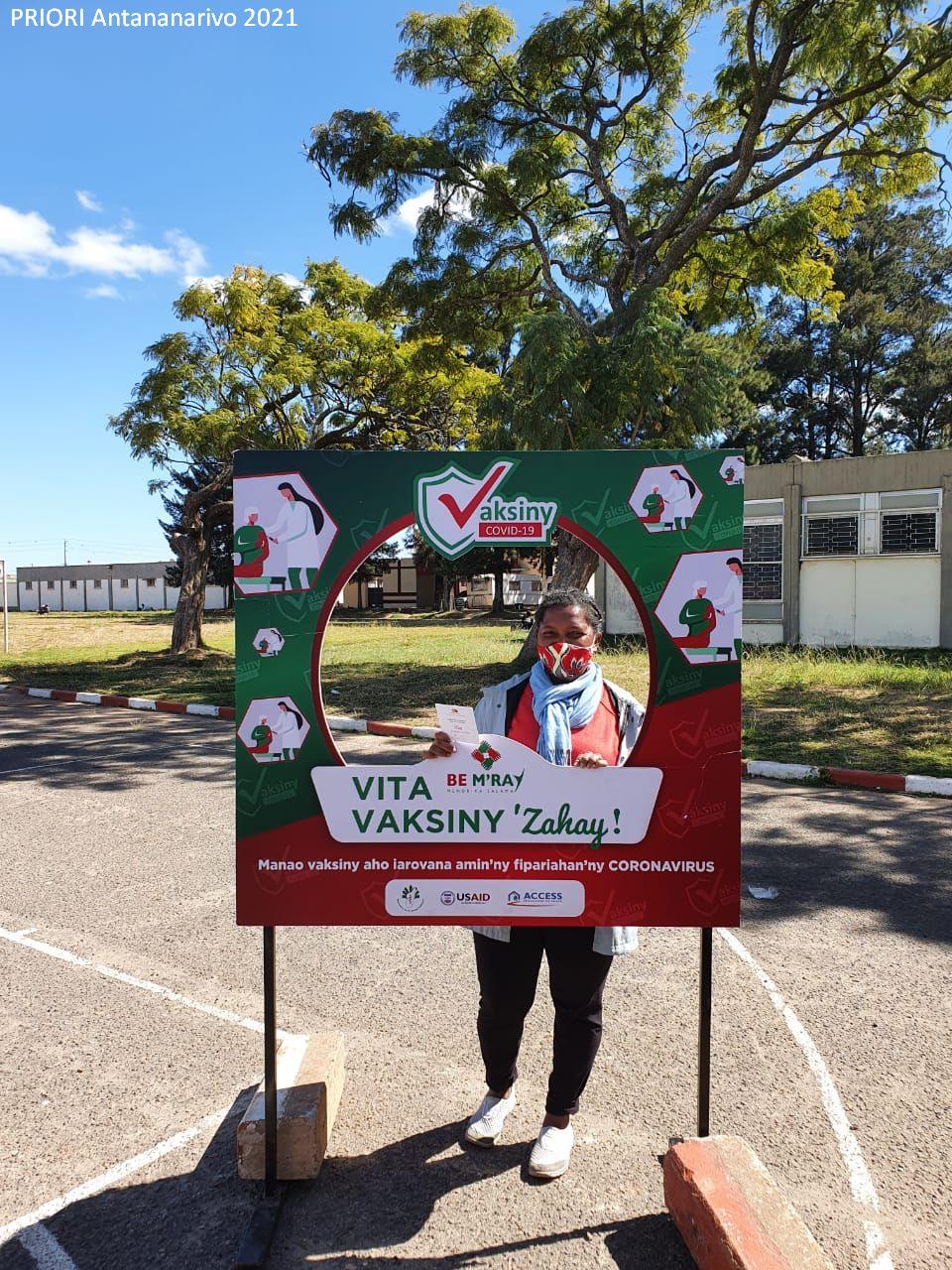 Corona-Impfung im Vaccinodrome Antananarivo Madagaskar Juni 2021
